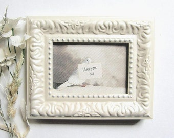 Personalizable I LOVE YOU frame, I love you message from (your name); Mother's day frame, Small father's day gift, Baby gift, Confirmation