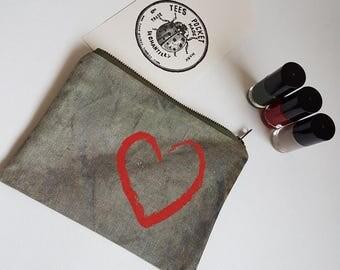 """My heart"" pouch"