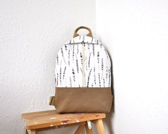 NEW, canvas backpack, backpack purse, neutral backpack, cotton rucksack, canvas bag, canvas rucksack, MADE to ORDER