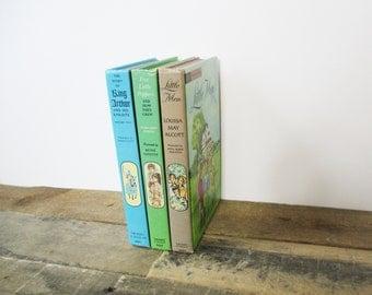 SALE*** Set of Vintage Children's 'Companion Library' Books. Hardcover Children's Book Bundle - Little Men, King Arthur, Five Little Peppers
