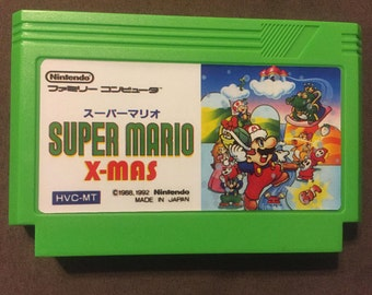 Super Mario X-Mas Custom Famicom 8bit Game.