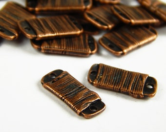 10 Pcs - 15x7x2mm Copper Connector Charms - Connectors - Jewelry Supplies
