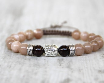 Buddha bracelet bracelet yoga bracelet healing bracelet girlfriend gift energy bracelet wife gift buddhism meditation bracelet sunstone