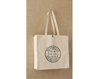 Canvas Tote Bag, Grocery Bag, French Postmark, Reusable Shopping Bag, Eco Friendly Bag, Reusable Grocery Bag