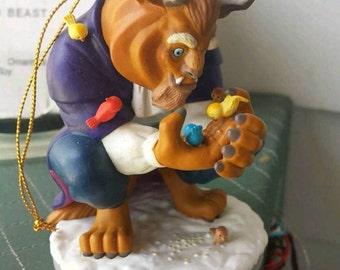 Beauty and the Beast figurine / Disney's Beast ornament / Grolier ornament / Disney christmas ornament / christmas magic collection