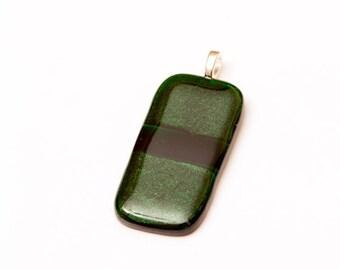 Fused Glass Pendant, Glass Pendant, Green Glass Pendant, Green Pendant, Glass Jewelry, Pendant, Glass,GreenDecember BirthstonT