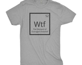 Periodic table shirt etsy wtf tee funny chemistry tshirt periodic table shirt funny scientist shirt the urtaz Image collections