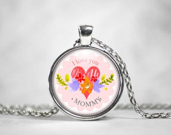 Mother's Day Pendant, 25mm Pendant, Gifts For Mom, Mother's Day Gifts