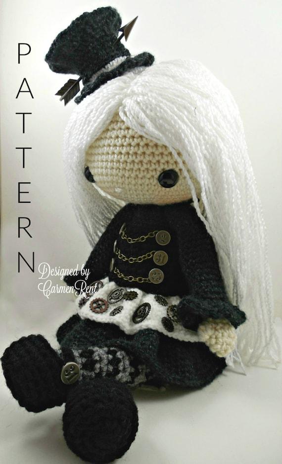 gothic doll amigurumi - jack skellington - PDF digital crochet ... | 936x570