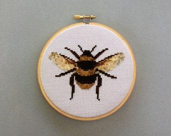 Portrait of a Bee - Cross Stitch Pattern PDF