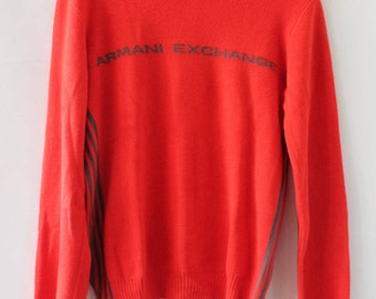 Armani Exchange Knit Sweater Orange XS / Armani Exchange Shirt