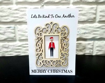 Ellen Degeneres Christmas Greeting Card, Christmas Card, Holiday Card, Ornament Card, Wooden Ornament Card, Ellen Degeneres