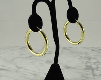 14K Yellow Gold Hoop Earrings (pierced)