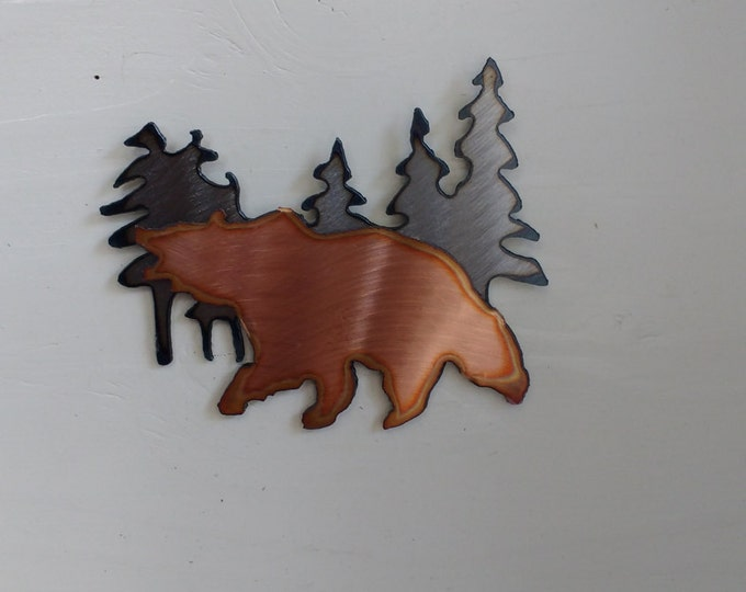 Grizzly In the Mountains Mini Sculpture