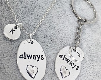 Matching Best Friend Keychain Charm Necklace, BFF for 2, Keychain Necklace Best Friend Sets,Friendship Jewelry,Gift For BFF Best Friend Wife