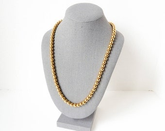 Gold Beads Necklace | Classic Mid-Length Style | Napier Jewelry | Glam Vintage Accessories