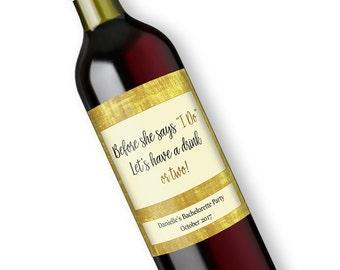 Custom Bachelorette Party Favors Wine Labels, Personalized Bridal Shower Bottle Label, Hen Party Decorations Hen Party Favors
