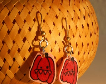 Monster red pepper vegetables brothers earring of earring peppers
