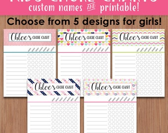 Kids Chore Charts Printable, Personalized Chore Charts, Chore Chart Printable, Customized Names Chore Charts, Chore Chart, Printable Planner