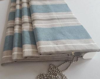 Handmade roman blind making service, custom roman blinds, own choice of fabric, beautiful finish, high quality