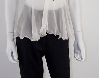 Top in silk and chiffon