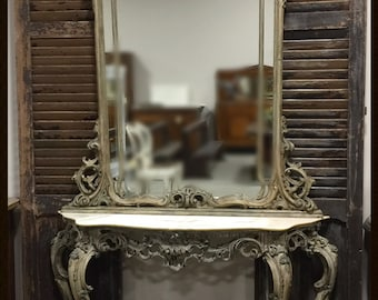 20th Century Vintage Console and Mirror from Italy