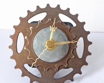 Bike gear clock, bicycle gear clock, gift for boys, gift for him, cassette clock, sprocket clock, bike clock, bicycle clock