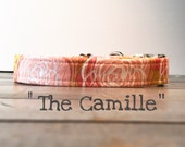 DOG COLLAR, Made to Order, Dog Collar for Girls, Floral Dog Collar, Pretty Dog Collars
