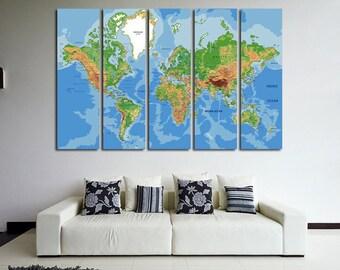 World Map Push Pin Push Pin Travel Map Push Pin Map Map Canvas World Map Wall Art World Map Print Travel Map World Map World Map Wall Decor