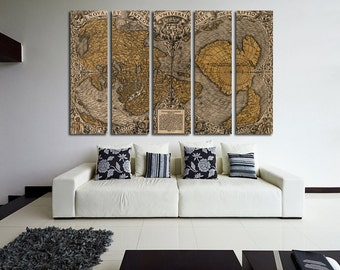Old World Map Wall Art Vintage World Map Canvas Print Wall Art World Map Wall Decor World Map Print Vintage World Map Poster Antique Map