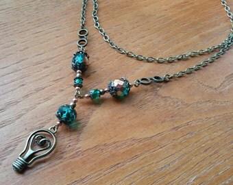 Light Bulb Necklace.