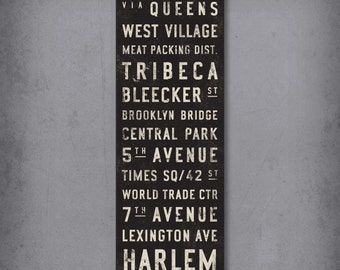 CUSTOM Bus Scroll, Subway Sign, Vintage Tram Roll, Canvas