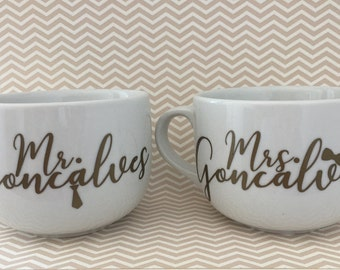 Mr. and Mrs. Personalized Coffee mug Set of 2 *16 oz*