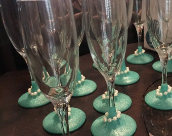 Breakfast at Tiffany's Champagne Flutes