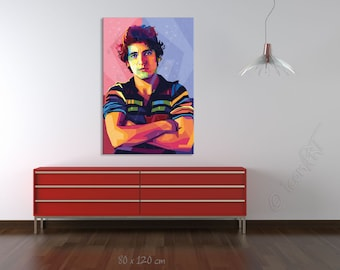 Tribute to Bruce Springsteen FRAMED ART personalized by you gift for music lovers pop art canvas gift for men and gift idea for musicians
