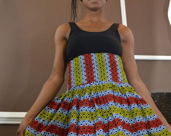 Authentic, Ankara Print Maxi Skirt