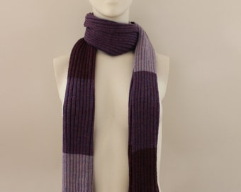 Block Patterned Scarf (Purple/Lilac/Mauve)