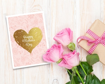 Mothers day card, Printable mothers day card, Happy mothers day card, Mothers day DIY, Mothers day printable, Mothers day gift, Mother's day