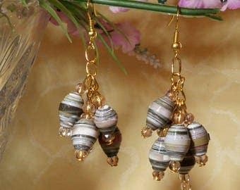 Sophia - earrings with paper beads