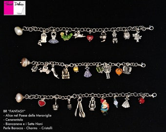 Bracelet Charms-Alice in Wonderland-Cinderella-snow white and the seven dwarfs