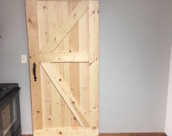 Custom Unstained Barn Door