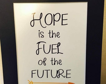 "Inspiritation Quote ""Hope is the Fuel of the Future"""