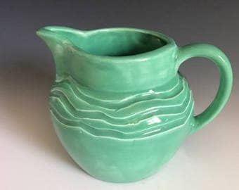 Spring green cream pitcher