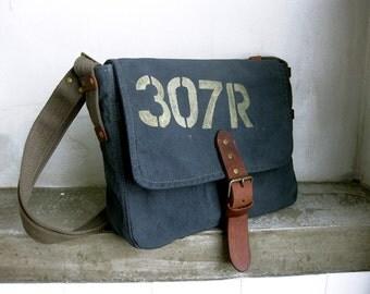 Messenger Bag, Canvas Cross Body, Shoulder bag, Side Bag, Canvas Leather Messenger, Blue Messenger Bag, Print Bag, Men Messenger, Canvas Bag