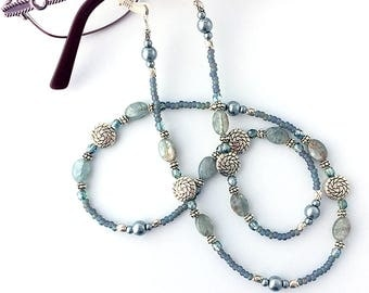 Kyanite Blue Beaded Eyeglass Chain - 62