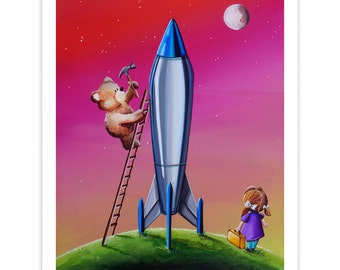 Dreamer Series Limited Edition - The Moon Mission - Signed 8x10 Semi Gloss Print (2/10)