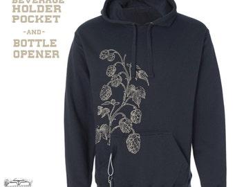 Men's HOPS {Ultimate Beer Lover's} Tailgate Fleece Pullover Hoody Sweatshirt s m l xl xxl xxxl
