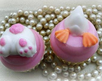 Bottoms Up Cupcake Handcrafted Soap