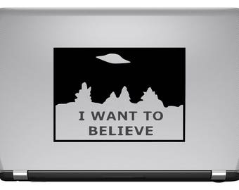 BUY 2 GET 1 FREE I Want to Believe Vinyl Decal The X-Files Mulder Scully