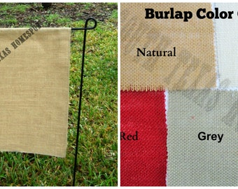 Colored Canvas Garden Flag Blank ready to decorate with HTV
